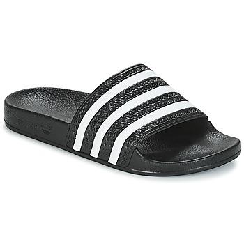 Obuća Sportske natikače adidas Originals ADILETTE Crna / Bijela