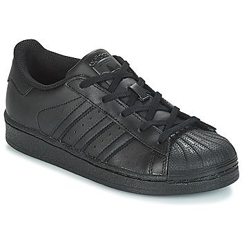 Obuća Djeca Niske tenisice adidas Originals SUPERSTAR C Crna