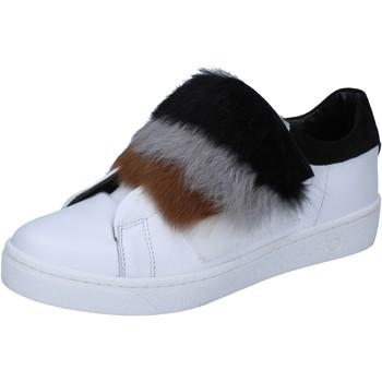 Obuća Žene  Modne tenisice Islo sneakers bianco pelle pelliccia BZ211 Bianco