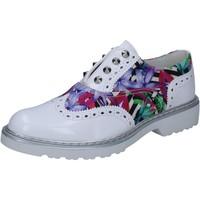 Obuća Žene  Derby cipele Cult classiche bianco pelle lucida multicolor tessuto BZ264 Multicolore