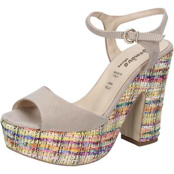 Obuća Žene  Sandale i polusandale Geneve Shoes sandali beige camoscio BZ890 beige