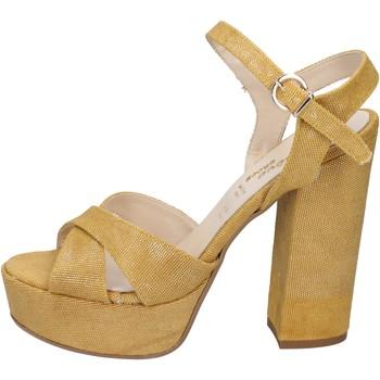 Obuća Žene  Sandale i polusandale Geneve Shoes sandali giallo tessuto BZ892 Giallo
