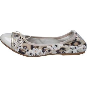 Obuća Žene  Balerinke i Mary Jane cipele Crown ballerine beige vernice tessuto BZ939 Beige