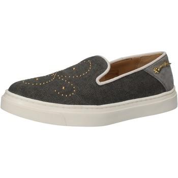 Obuća Žene  Slip-on cipele Braccialini slip on grigio tessuto borchie AE545 Grigio