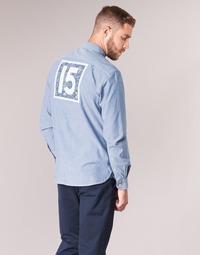 Odjeća Muškarci  Košulje dugih rukava Serge Blanco 15 DOS Blue
