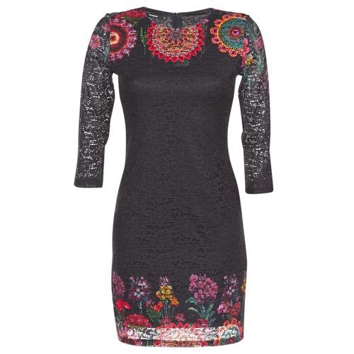 Odjeća Žene  Kratke haljine Desigual DARINA Crna
