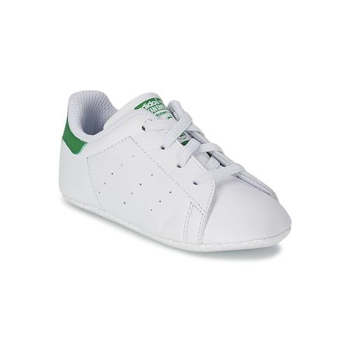 Obuća Djeca Niske tenisice adidas Originals STAN SMITH CRIB Bijela / Zelena