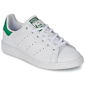 Obuća Djeca Niske tenisice adidas Originals STAN SMITH J Bijela / Zelena