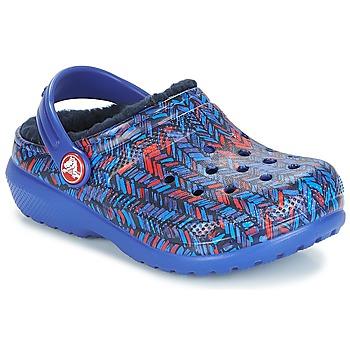 Obuća Djeca Klompe Crocs CLASSIC LINED GRAPHIC CLOG K Blue