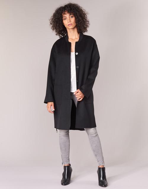 Odjeća Žene  Kaputi Benetton MARBELLO Crna