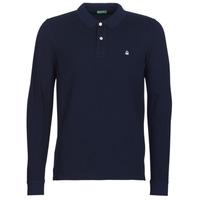 Odjeća Muškarci  Polo majice dugih rukava Benetton MAZARRI Blue