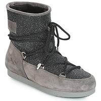 Obuća Žene  Čizme za snijeg Moon Boot FAR SIDE LOW SUEDE GLITTER Black / Grey