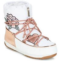 Obuća Žene  Čizme za snijeg Moon Boot PEACE & LOVE WP Bijela / Ružičasta / Zlatna