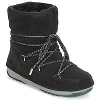Obuća Žene  Čizme za snijeg Moon Boot W.E. LOW SUEDE WP Black