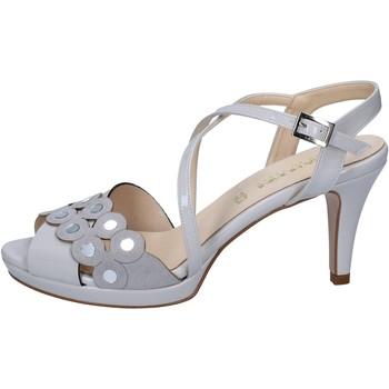 Obuća Žene  Sandale i polusandale Olga Rubini sandali grigio vernice camoscio BY358 Grigio