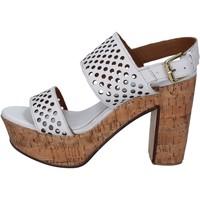 Obuća Žene  Sandale i polusandale Shocks sandali bianco pelle BY394 Bianco