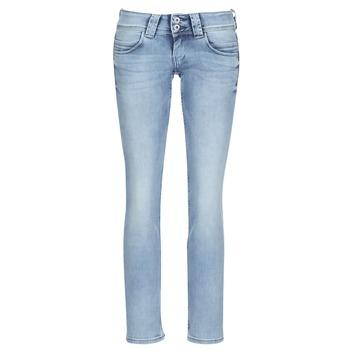Odjeća Žene  Traperice ravnog kroja Pepe jeans VENUS Blue / Svijetla