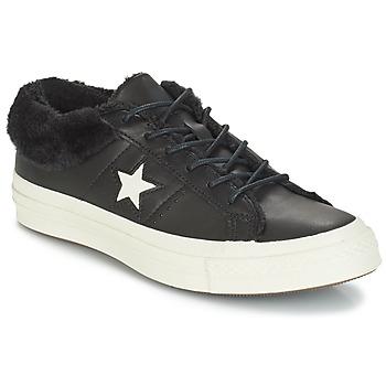 Obuća Žene  Niske tenisice Converse ONE STAR LEATHER OX Black