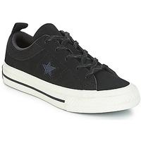 Obuća Djeca Niske tenisice Converse ONE STAR NUBUCK OX Crna / Bijela