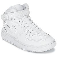 Obuća Djeca Visoke tenisice Nike AIR FORCE 1 MID Bijela