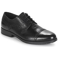 Obuća Muškarci  Derby cipele Geox U HILSTONE 2FIT Crna