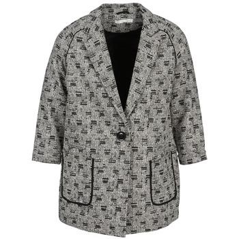 Odjeća Žene  Kaputi See U Soon CARA Crna / Bijela