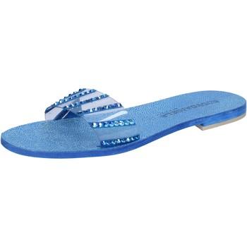 Obuća Žene  Sandale i polusandale Eddy Daniele sandali blu camoscio plastica swarovski aw491 Blu