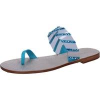 Obuća Žene  Sandale i polusandale Eddy Daniele sandali blu camoscio plastica swarovski aw487 Blu