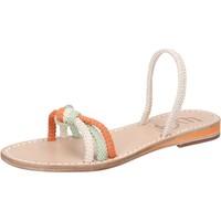 Obuća Žene  Sandale i polusandale Eddy Daniele sandali bianco corda verde arancione aw479 Multicolore