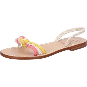 Obuća Žene  Sandale i polusandale Eddy Daniele sandali bianco corda rosa giallo av411 Multicolore