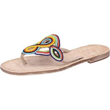 Obuća Žene  Sandale i polusandale Eddy Daniele sandali multicolor pelle perline av408 Multicolore