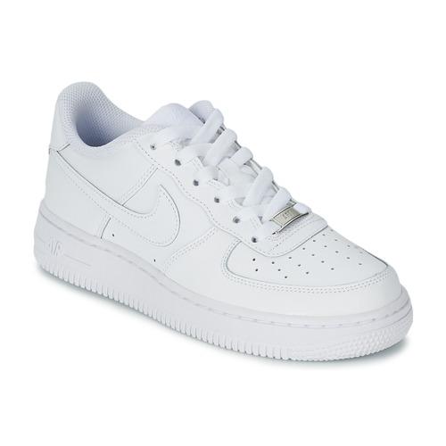 Obuća Djeca Niske tenisice Nike AIR FORCE 1 Bijela
