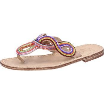Obuća Žene  Sandale i polusandale Eddy Daniele sandali multicolor pelle perline ax895 Multicolore