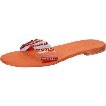 Obuća Žene  Sandale i polusandale Eddy Daniele sandali arancione plastica swarovski aw449 Arancio