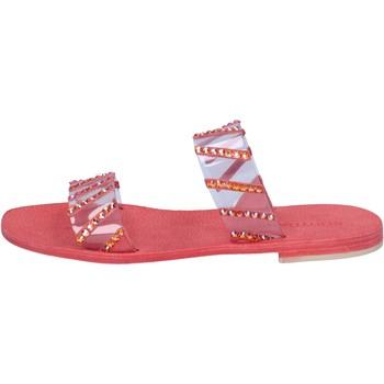 Obuća Žene  Sandale i polusandale Eddy Daniele sandali rosso plastica swarovski aw463 Rosso