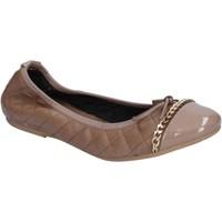 Obuća Žene  Balerinke i Mary Jane cipele Crown ballerine beige pelle BX639 Beige