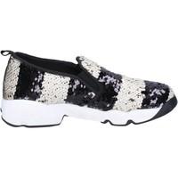 Obuća Žene  Slip-on cipele J. K. Acid slip on bianco paillettes nero BX744 Bianco