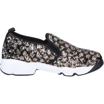 Obuća Žene  Slip-on cipele J. K. Acid slip on bronze paillettes nero BX746 Nero