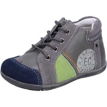 Obuća Dječak  Niske tenisice Enrico Coveri sneakers grigio camoscio pelle BX827 Grigio