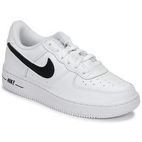 Obuća Djeca Niske tenisice Nike AIR FORCE 1-3 PS Bijela / Crna